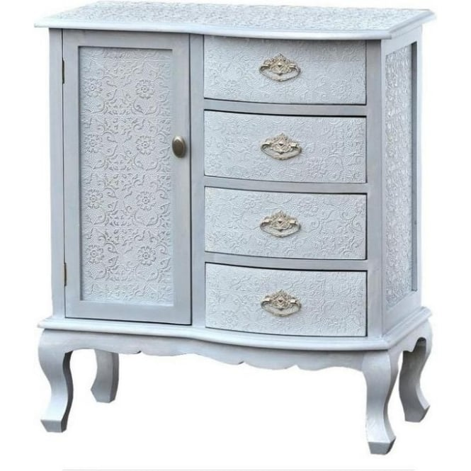 Chaandhi Kar Embossed Shabby Chic Chest of Drawers