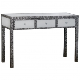 Chaandhi Kar Embossed Shabby Chic Console Table