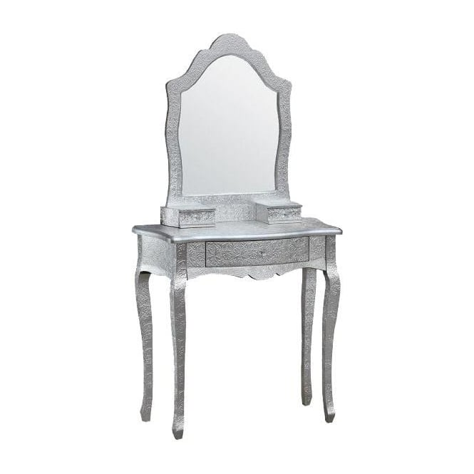 Chaandhi Kar Embossed Shabby Chic Dressing Table