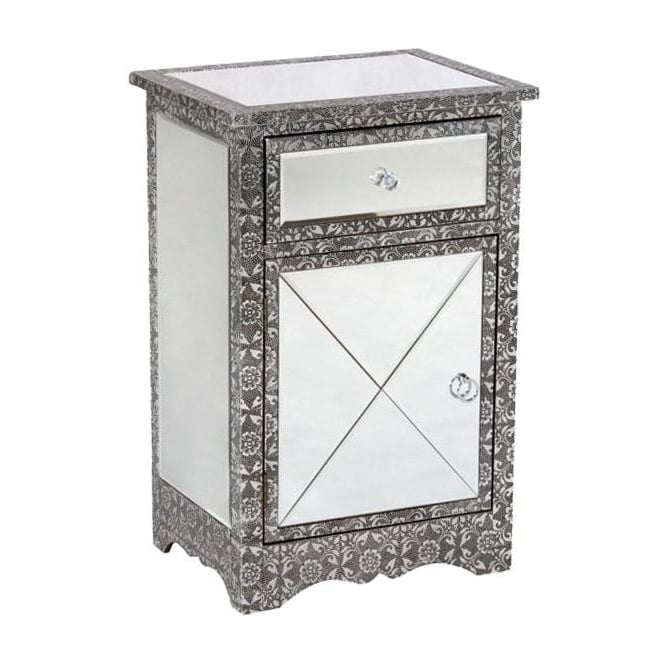Chaandhi Kar Mirrored Bedside Chest