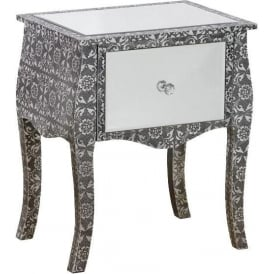 Chaandhi Kar Mirrored Bedside Table