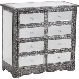 Chaandhi Kar Mirrored Chest Of Drawers