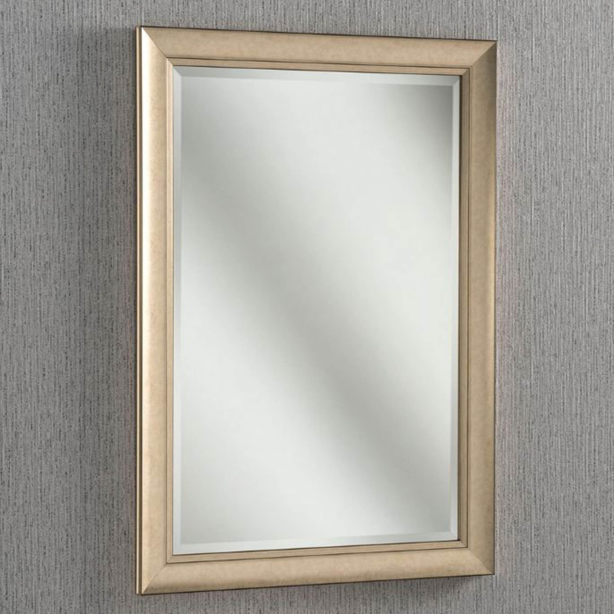 Champagne Bevelled Frame Contemporary Wall Mirror Wall Mirror