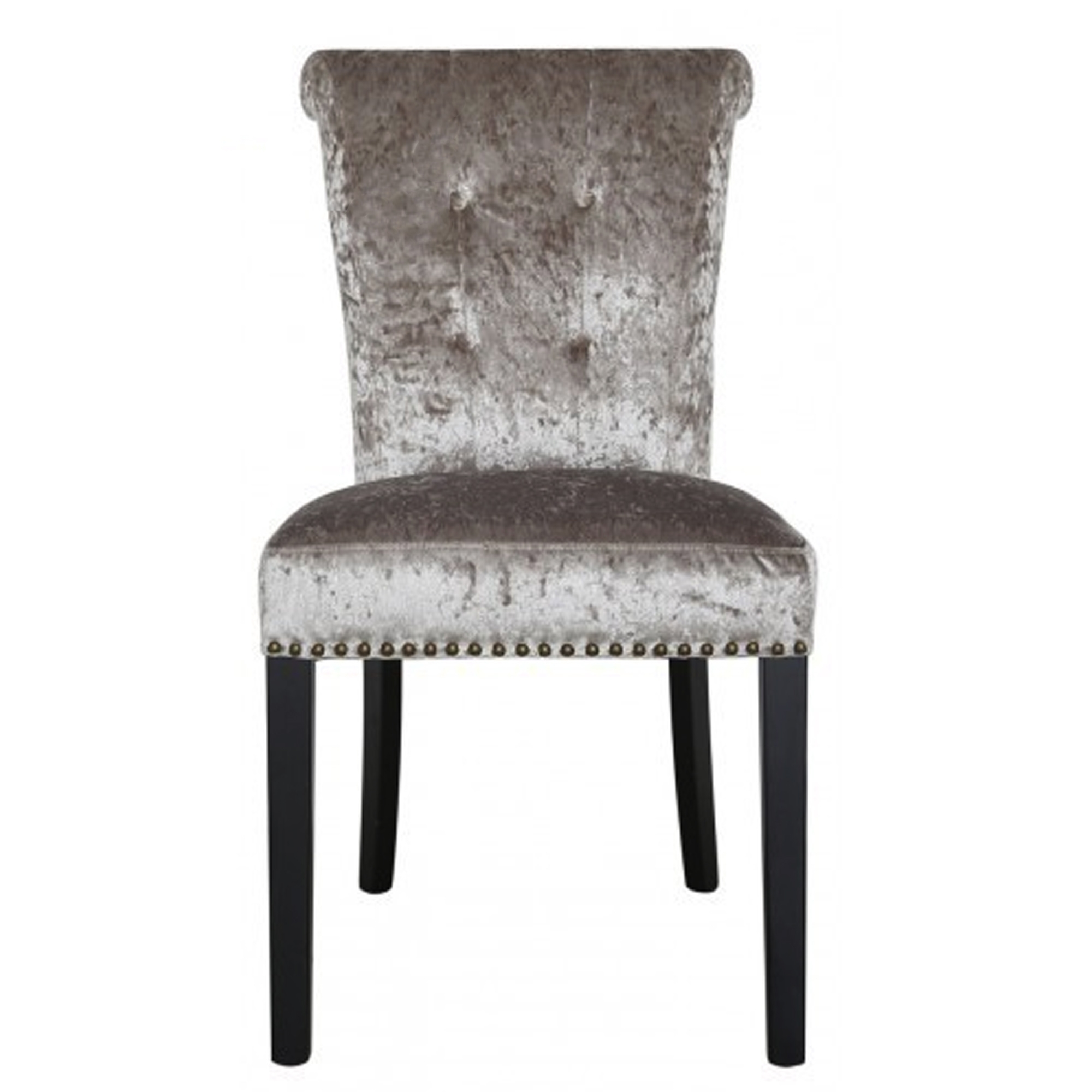 Champagne crushed velvet dining chair