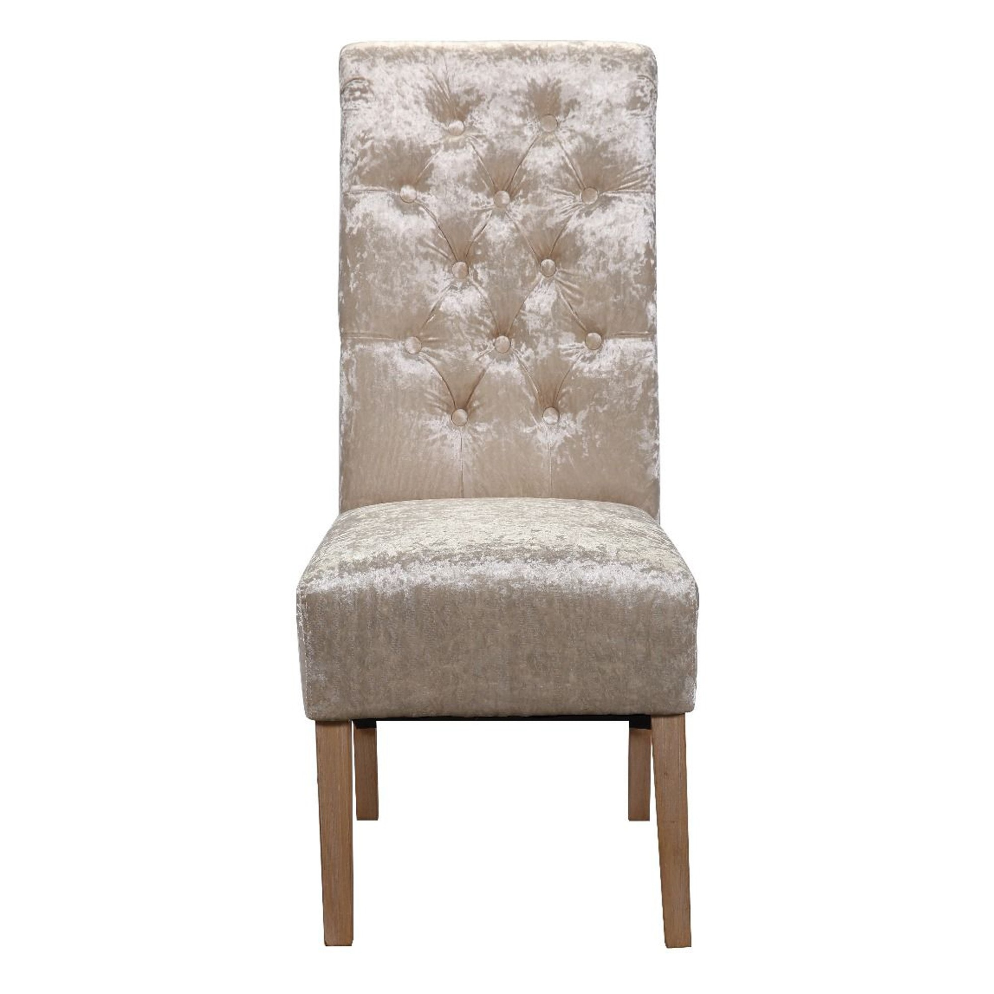 Champagne Crushed Velvet Dining Chair Set Of 2 Champagne Dining Chair Dining Chair