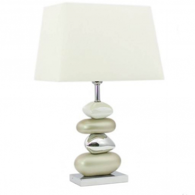 Champagne Pebble Table Lamp