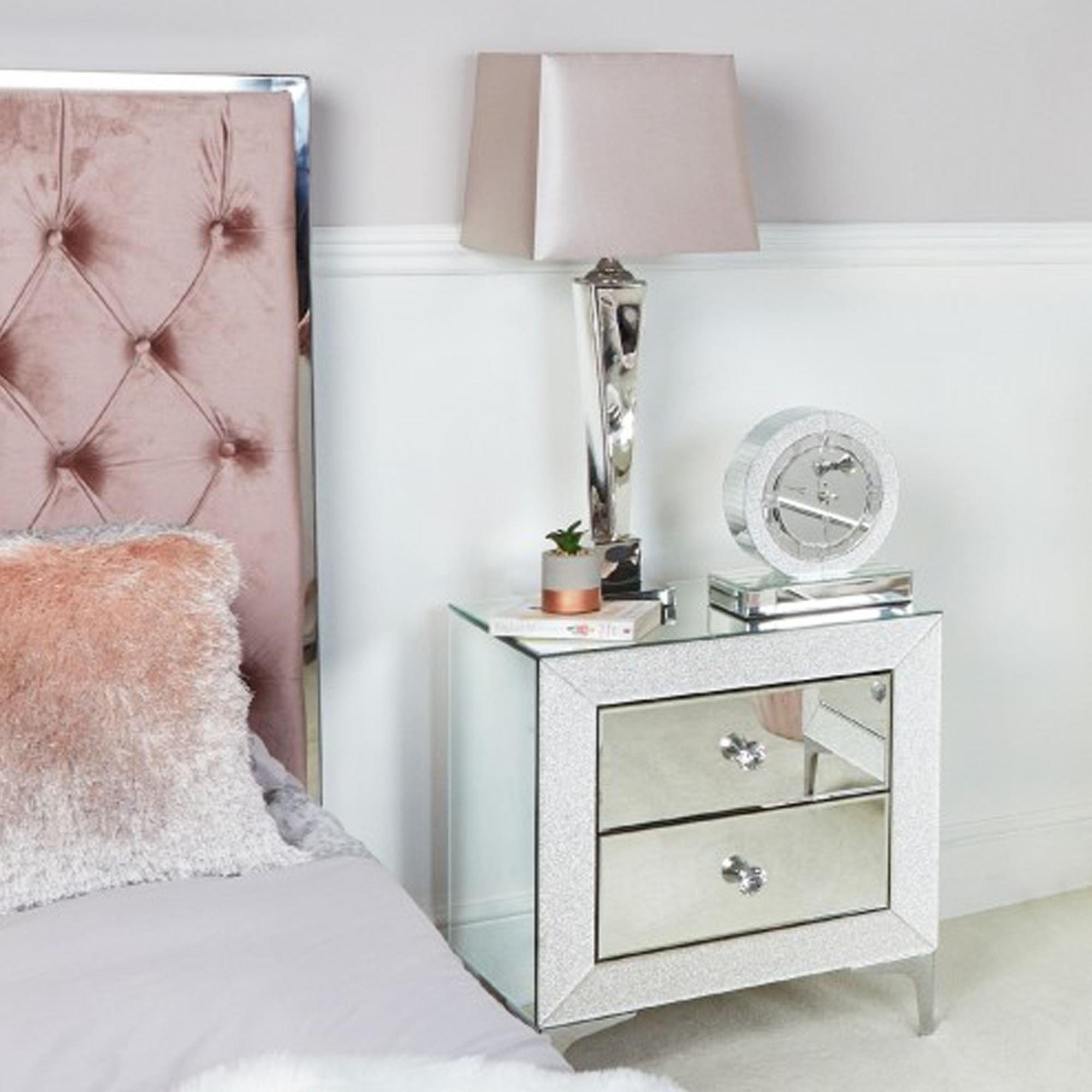 Champagne Sparkle Bedside Cabinet