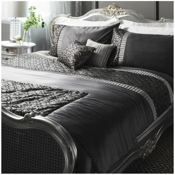 Charcoal Deco Sequin Quilt Cover Set