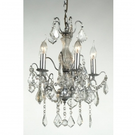 Charlotte Chrome Antique French Style Chandelier