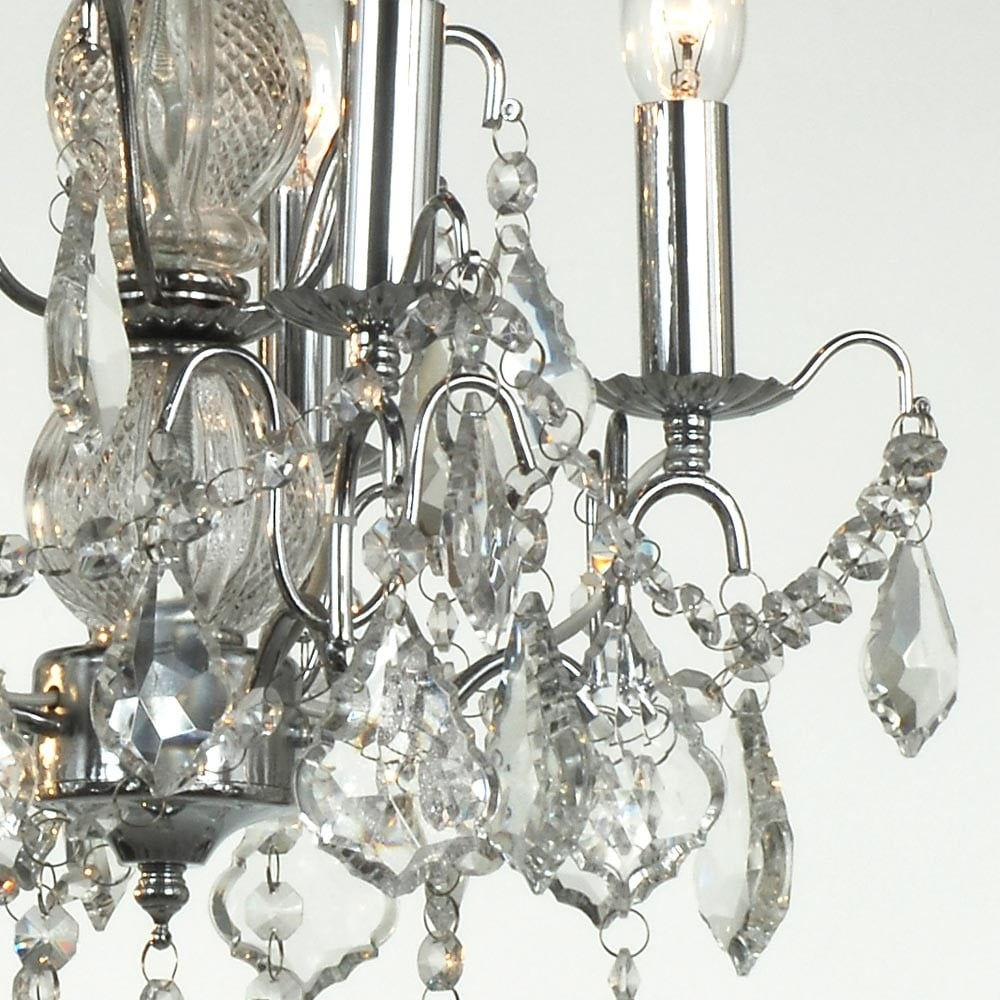 5 arm chrome antique french style chandelier french lighting charlotte chrome antique french style chandelier arubaitofo Image collections