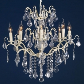 Charlotte Cream Crack Antique French Style Chandelier