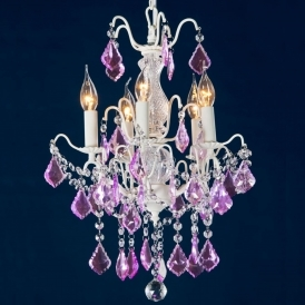 Charlotte Purple Antique French Style Chandelier