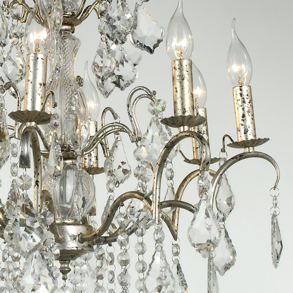 8 arm chrome antique french style chandelier french lighting charlotte silver antique french style chandelier arubaitofo Image collections