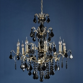 Charlotte Silver & Black Antique French Style Chandelier