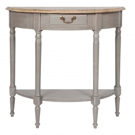 Chateau Grey Shabby Chic Half Moon Console Table