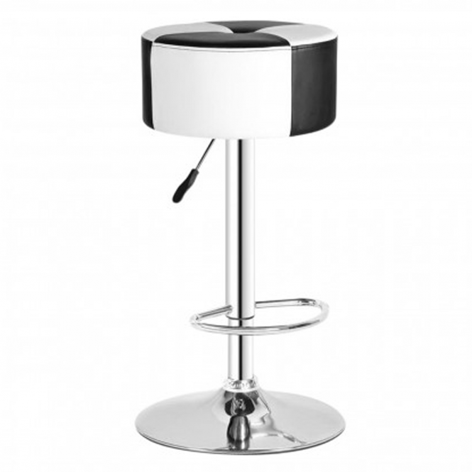 Checkered Retro Bar Stool