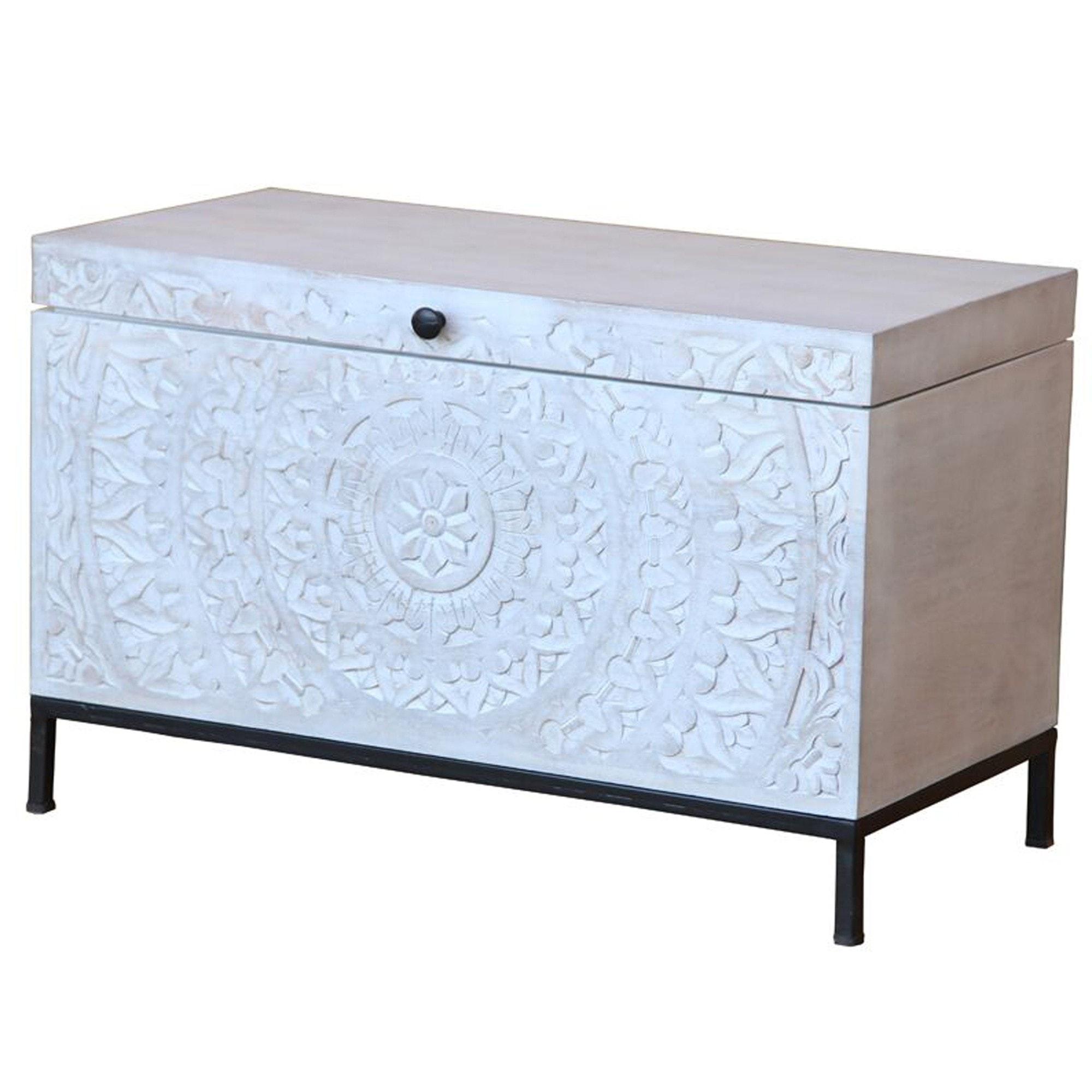 Chennai Box Wooden White Box Indian Furniture Wooden Indian