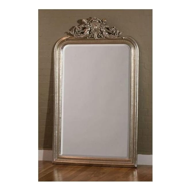 Cherubin Gilt Leaf Antique French Style Mirror
