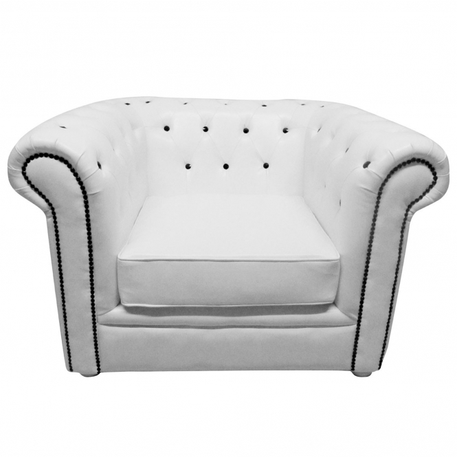 Chesterfield White Armchair