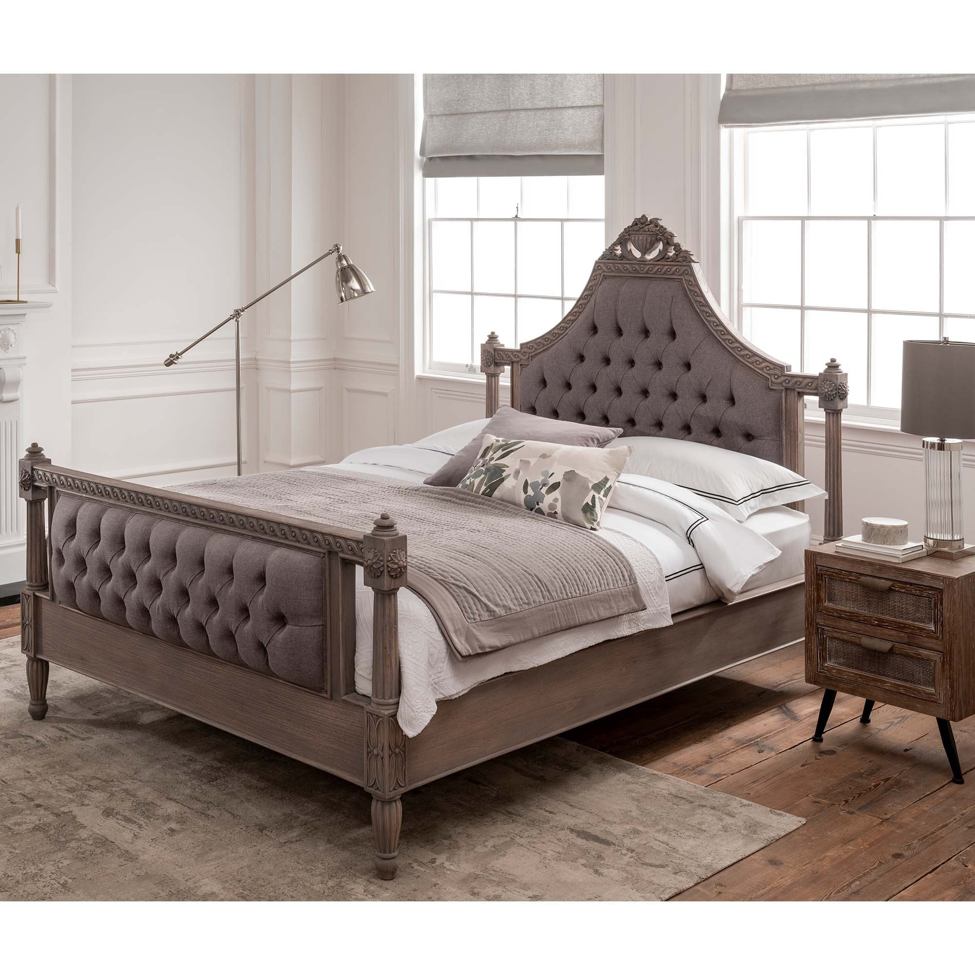 Chesterfield Wooden Bed Frame Fabric Bed Frame Wooden Bed Frame