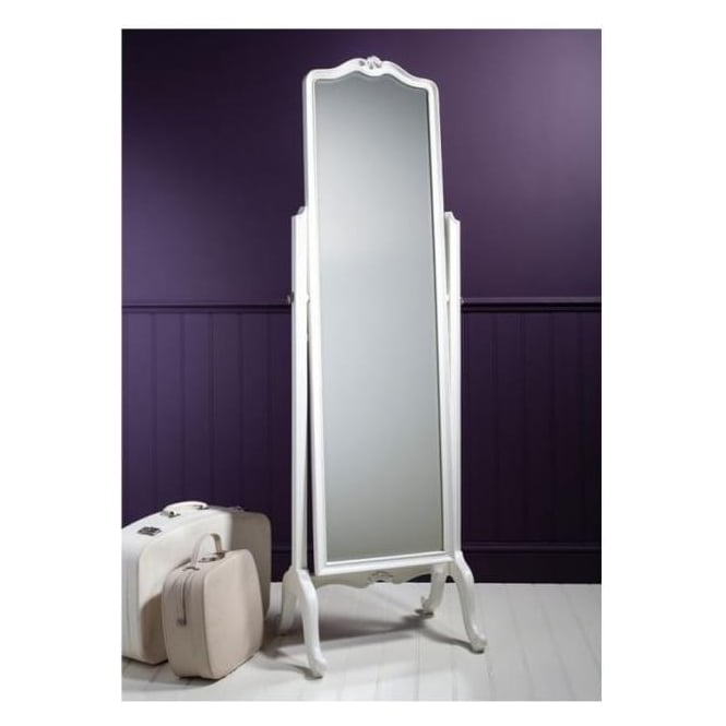 Chic Chalk Antique French Style Cheval Mirror