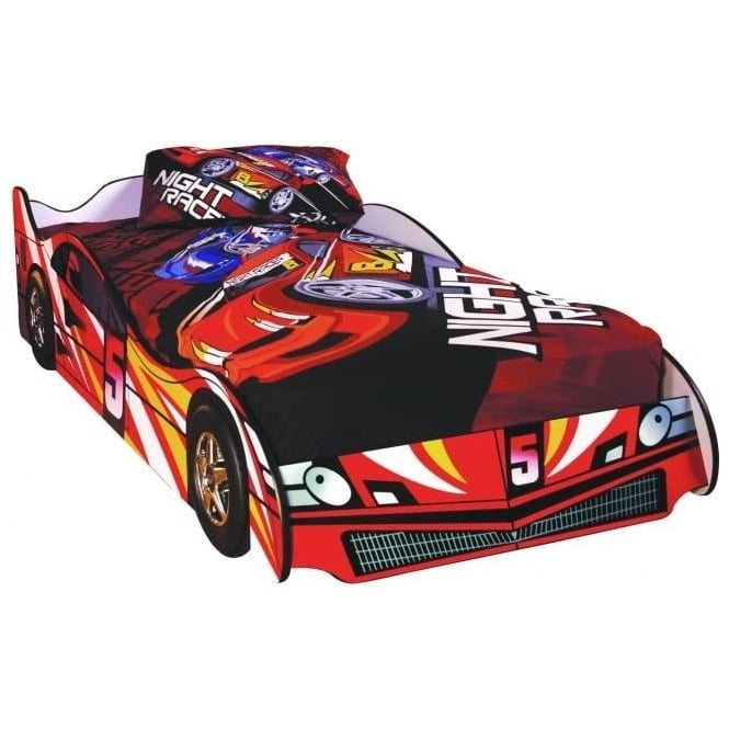 Children's Red Formula Car Bed