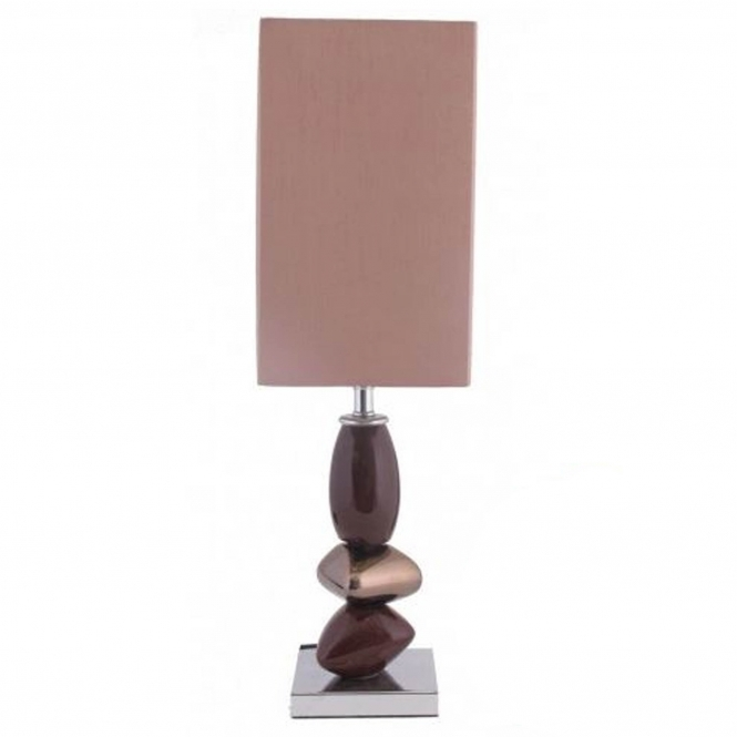 Chocolate Pebble Table Lamp