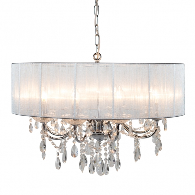 Chrome 8 Branch Antique French Style Chandelier