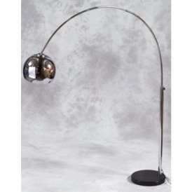Chrome Arc Lamp With Black Marble Base