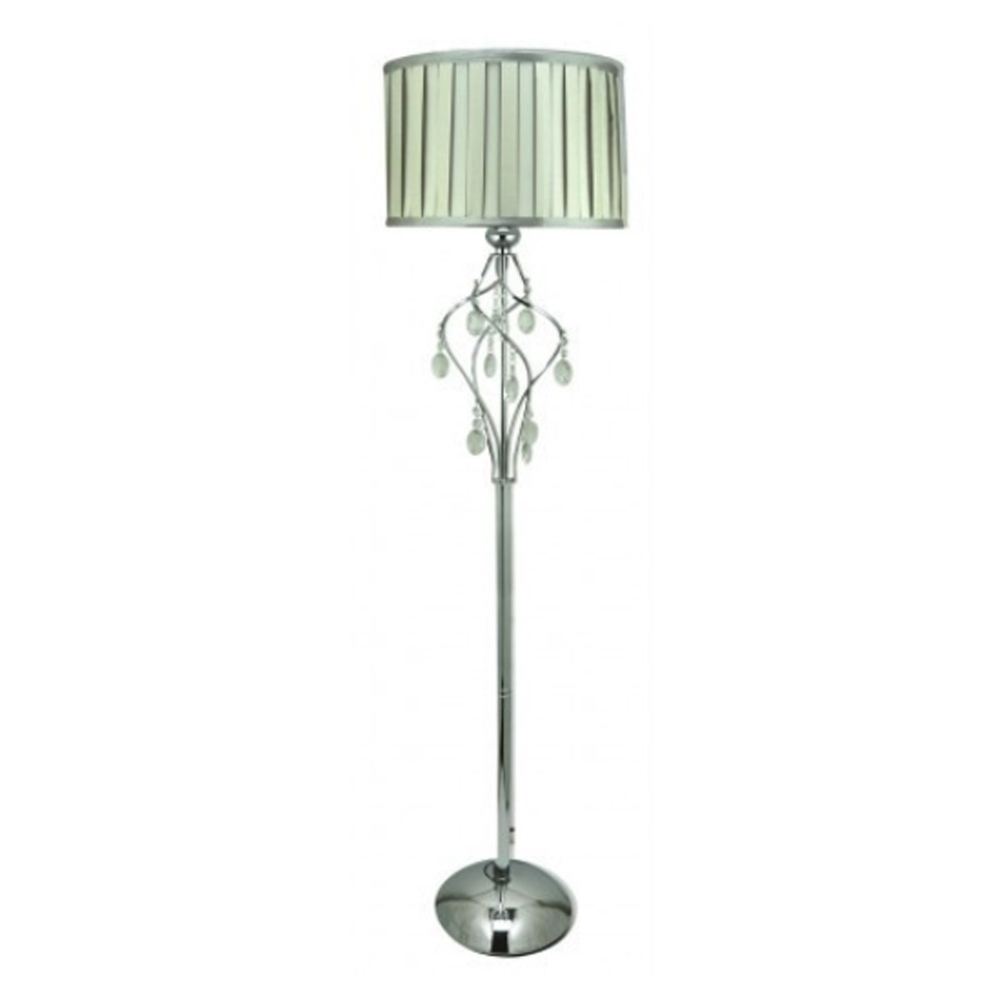 Chrome floor standing lamp with crystal glass floor standing lamps aloadofball Choice Image