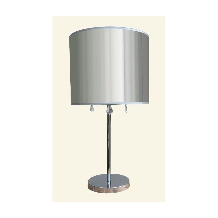 Chrome table lamp with clear shade french lighting from chrome table lamp with clear shade aloadofball Image collections