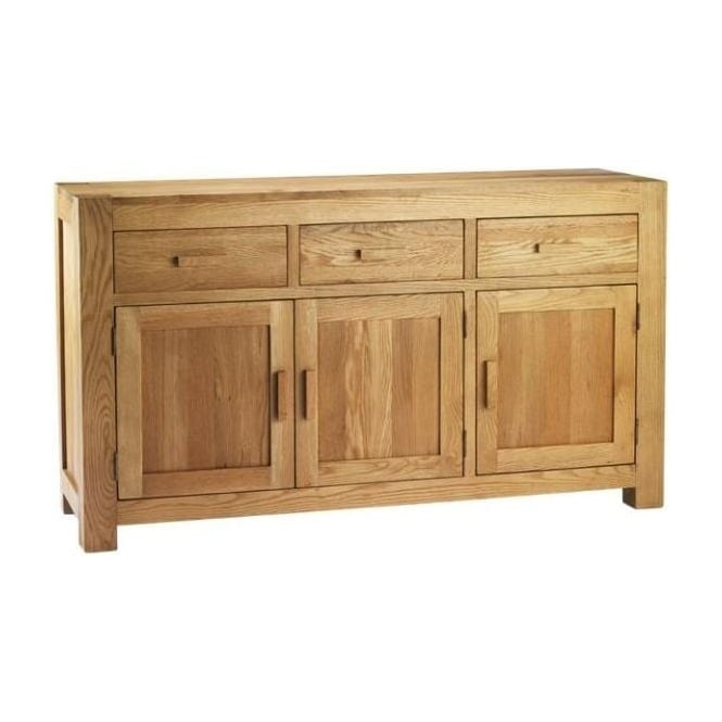 Chunky Oak 3 Door Sideboard