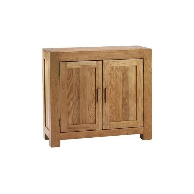 Chunky Oak Small 2 Door Sideboard