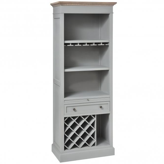 Churchill Shabby Chic Wine Display Cabinet