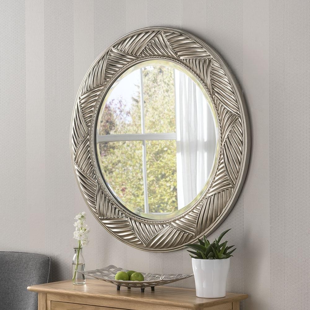 . Circular Contemporary Mirror