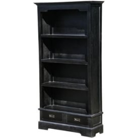 Classic Black Antique French Style Bookcase