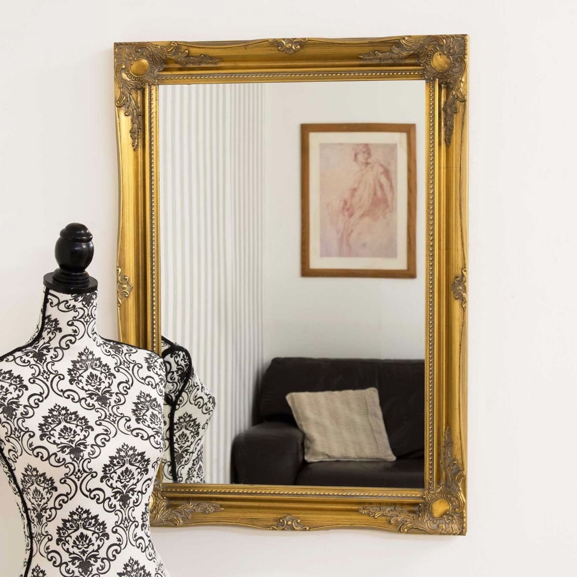 Classic Gold Ornate Antique French Style Mirror French