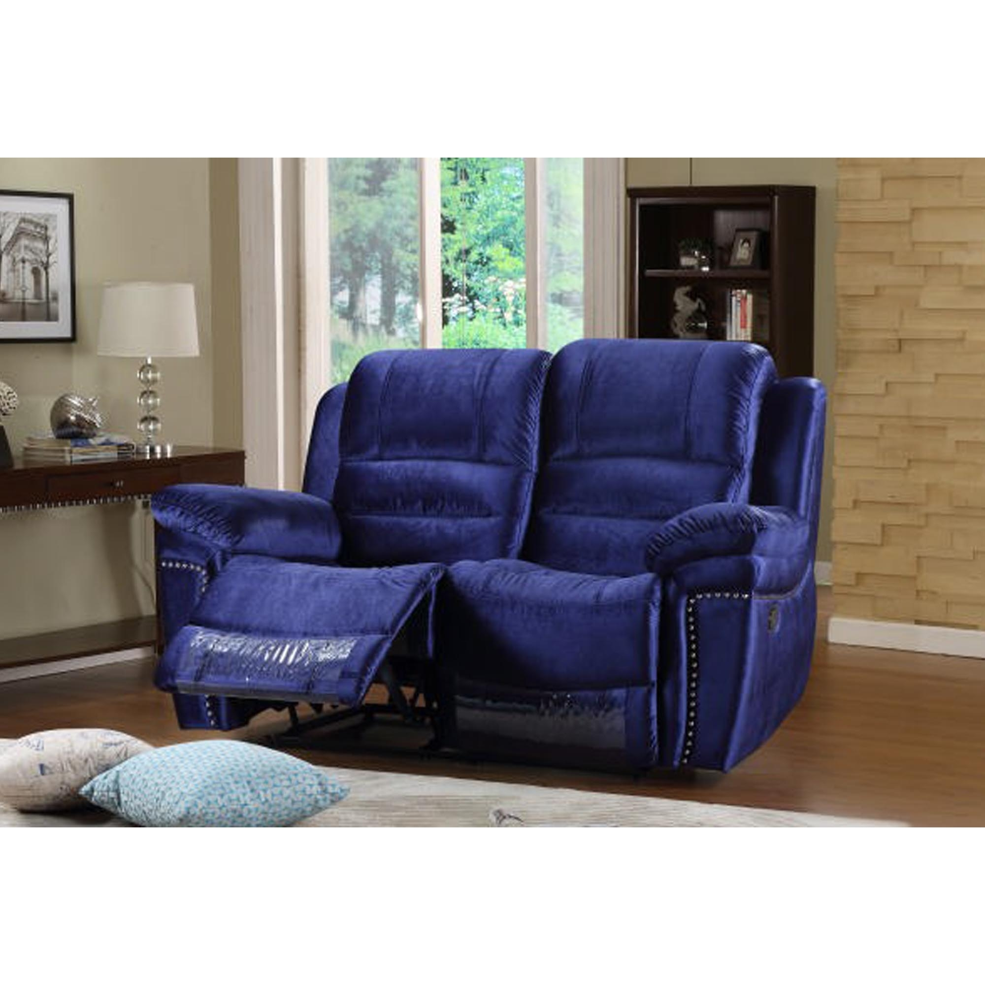 Claton 2 Seater Royal Blue Sofa