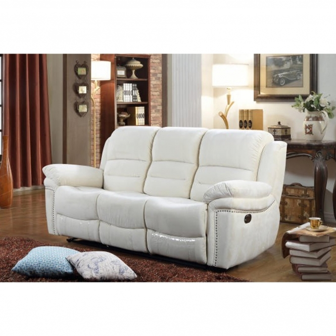Claton 3 Seater Cream Sofa