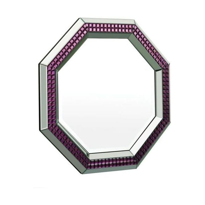 Clear and Purple Octagonal Mirror
