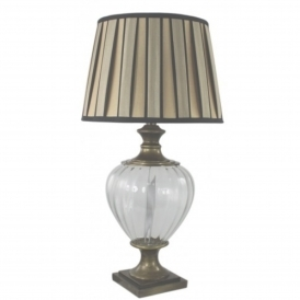 Clear Glass & Bronze Table Lamp