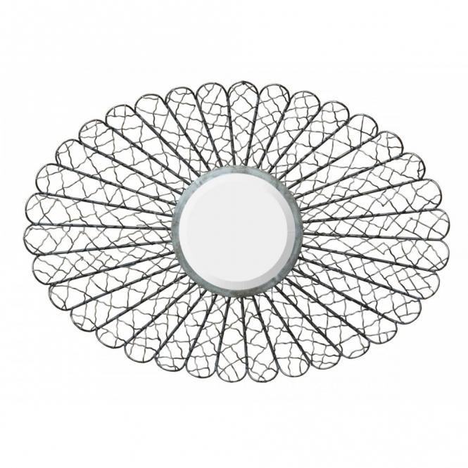 Cobweb Silver Metal Mirror