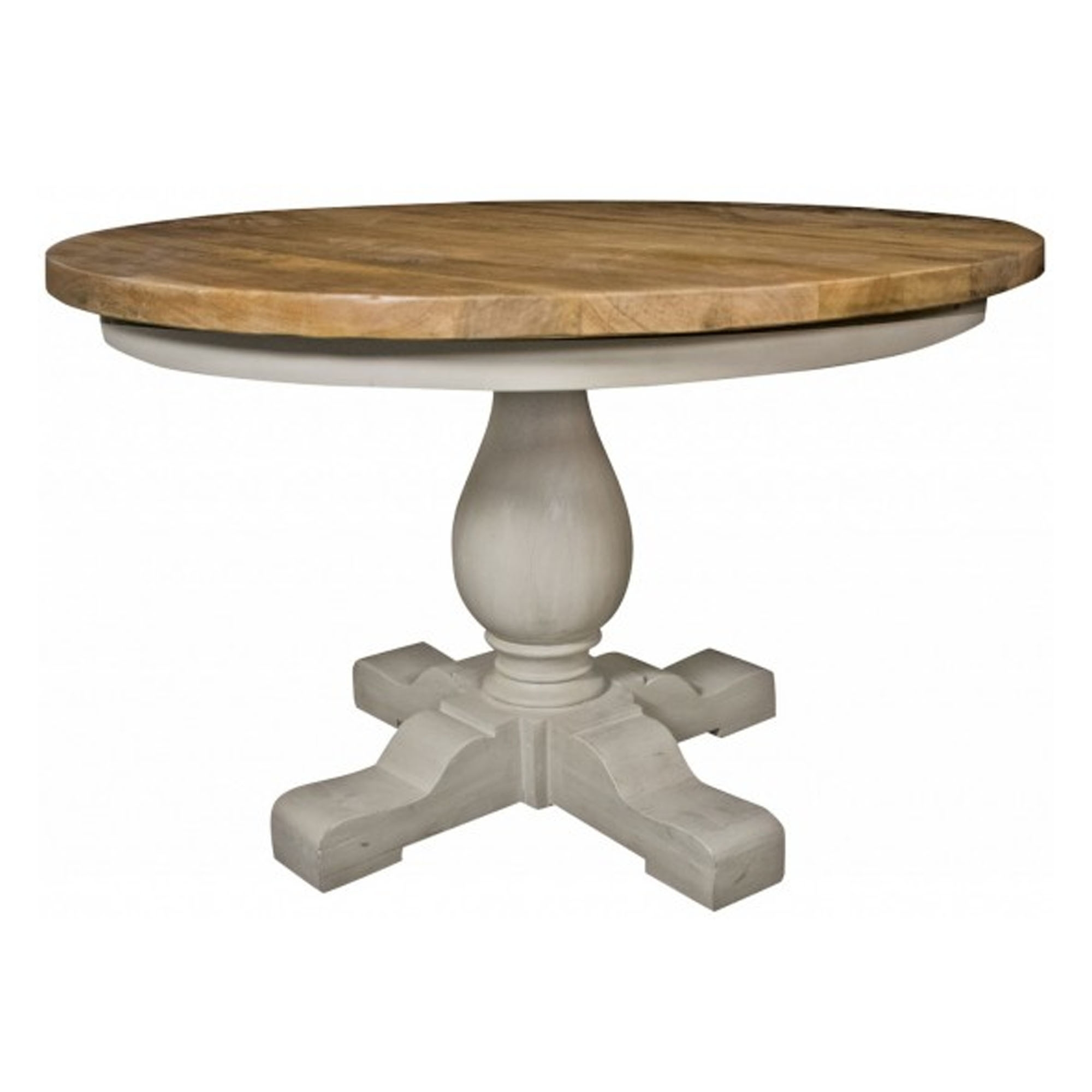 Shabby Chic Dining Room Table: Colorado Round Shabby Chic Dining Table
