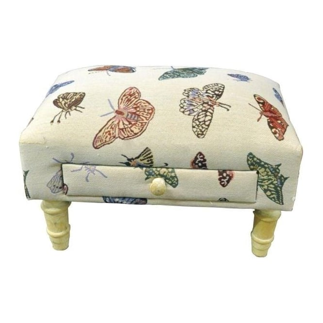 Coloured Butterflies Footstool