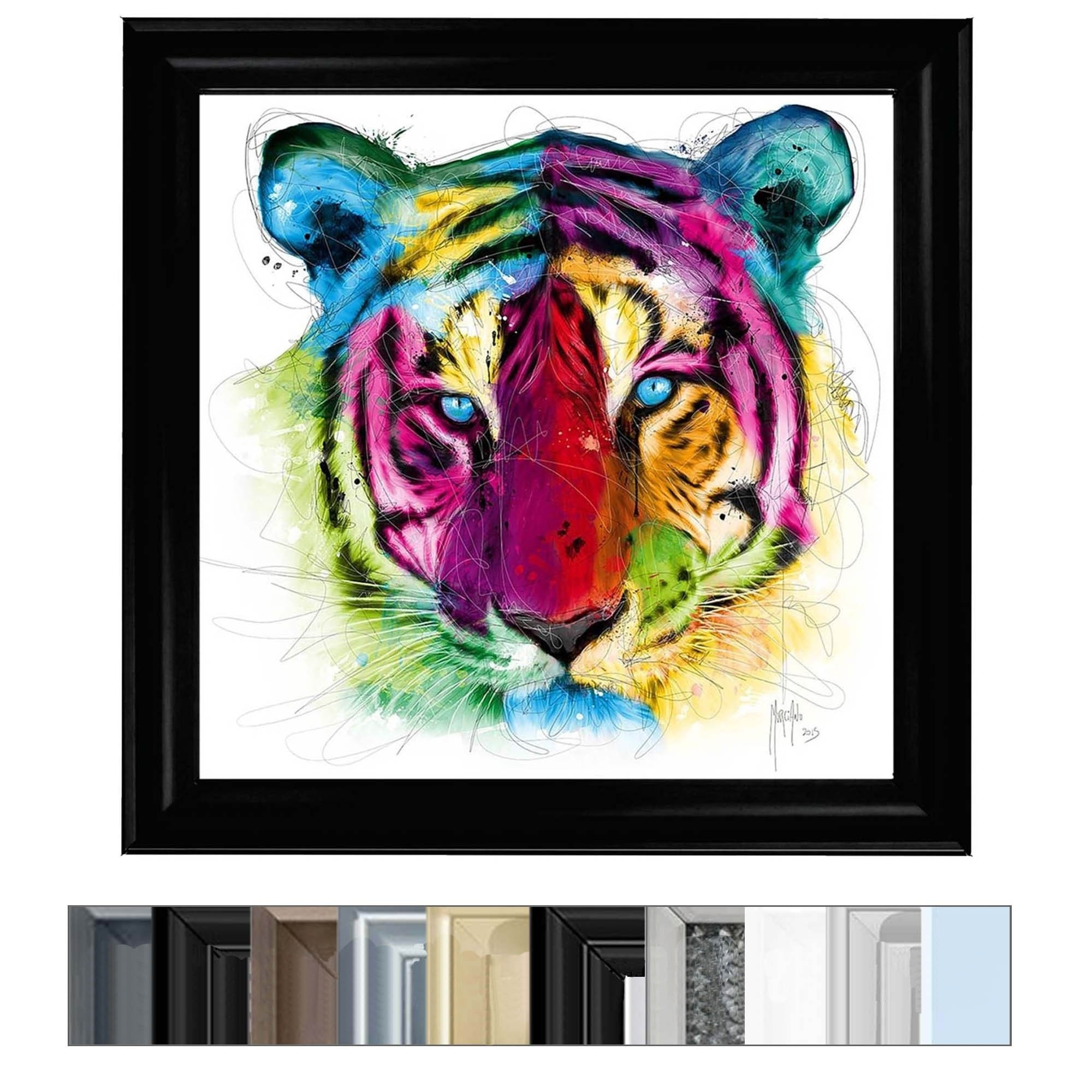 Colourful Tiger Wall Art Home Accessories Wall Art