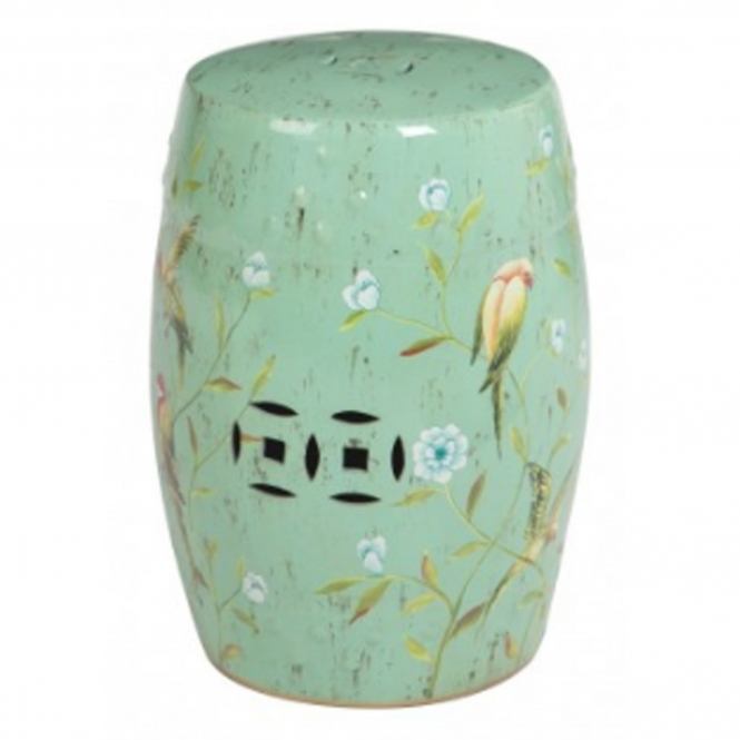 Complements Tropical Turquoise Ceramic Stool