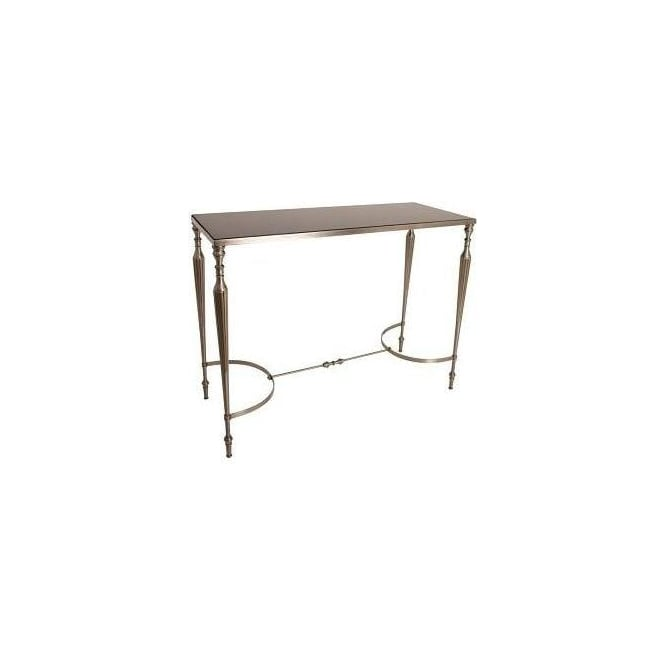 Console Table with Black Granite Top