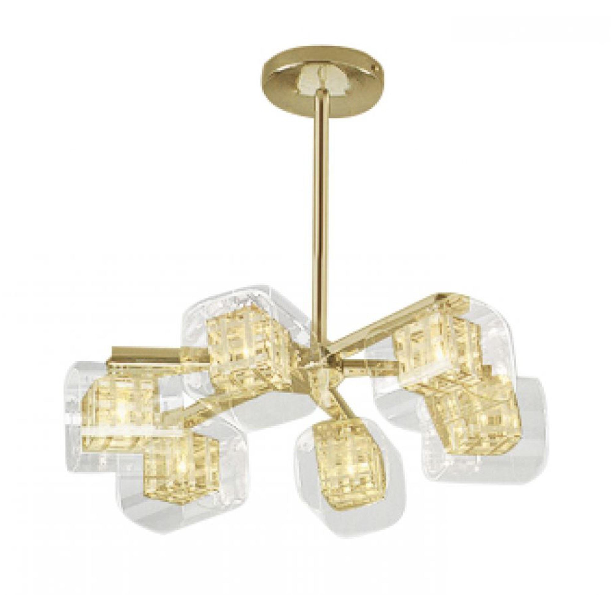 Contemporary avignon 6 light gold ceiling light