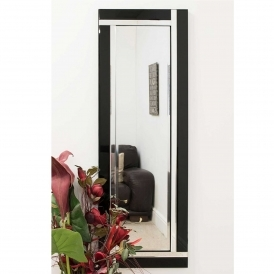 Contemporary Black Venetian Mirror