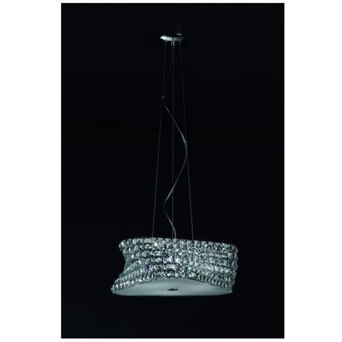 Contemporary Clear Crystal Pendant Light